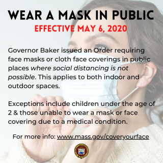 Face Masks Required Effective 5/6/2020