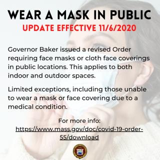 Revised Face Mask Order Effective 11/6/2020